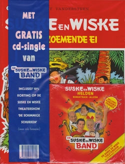 Suske en Wiske softcover nummer: 73 + CD-single helden.