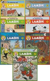"""Complete set softcovers """"De grappen van Lambik"""" deel 1 t/m 7"""