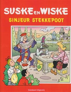 "Softcover stickeralbum ""Sinjeur Stekkepoot""."