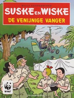 "Softcover stickeralbum ""De venijnige vanger""."
