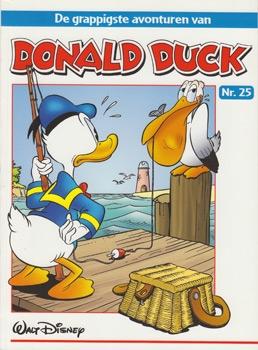 """Donald Duck """"De grappigste avonturen"""" softcover nummer: 25."""
