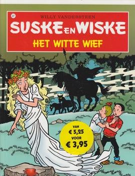 """Suske en Wiske softcover """"Het witte wief"""" misdruk."""
