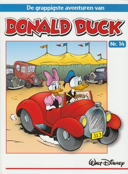 """Donald Duck """"De grappigste avonturen"""" softcover nummer: 14."""
