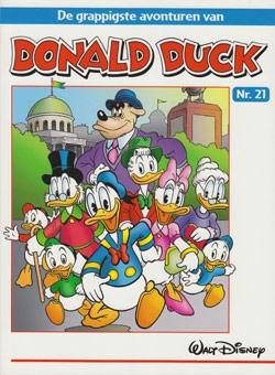 """Donald Duck """"De grappigste avonturen"""" softcover nummer: 21."""