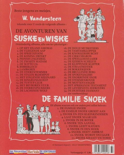 Suske en Wiske softcover VUM kranten uitgave NR: 33, 2005