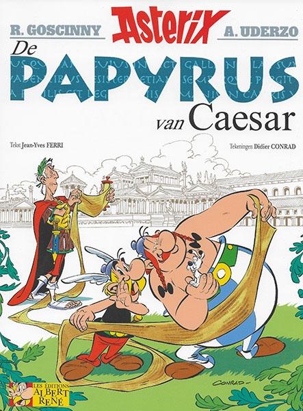 Asterix softcover, De papyrus van Caesar.